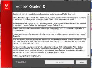 Adobe Readerのバージョンチェック